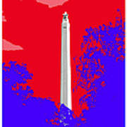 San Jacinto Monument Red White Blue Poster