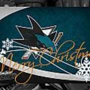 San Jose Sharks Christmas Poster