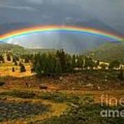 San Juan Mountains Rainbow Poster