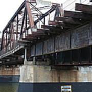 San Lorenzo River Train Bridge At Santa Cruz Beach Boardwalk California 5d23609 Poster
