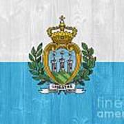 San Marino Flag Poster