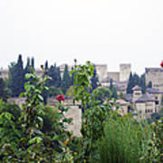 San Nicolas View Of The Alhambra On A Rainy Day - Granada - Spain - Spain Poster