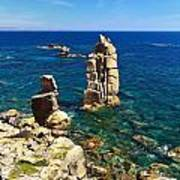San Pietro Island - Le Colonne Cliff Poster