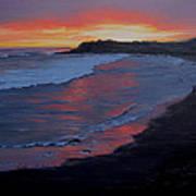 San Simeon Sunset Poster