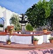 San Xavier Courtyard Poster