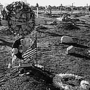 San Xavier Del Bac Cemetery 1987 Poster