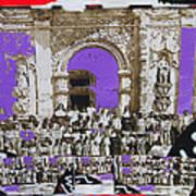 San Xavier Del Bac Church Collage Tucson Arizona C.1885-2012 Poster
