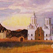 San Xavier Del Bac Mission Poster by Ron Bowles