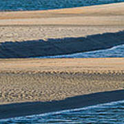 Sand And Water Textures Abstract Poster
