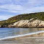 Sand Beach Acadia Poster