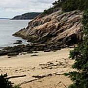 Sand Beach Acadia Park Poster