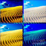 Sand Dunes Collage Poster