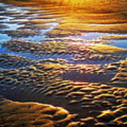 Sand Textures At Sunset Poster