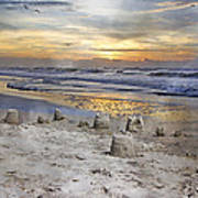 Sandcastle Sunrise Poster