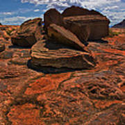 Sandstone And Sky Poster