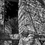 Sandstone Arch Jerome Black And White Poster