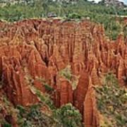 Sandstone Cliffs Poster by Liudmila Di