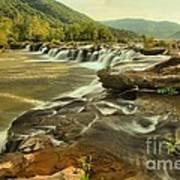 Sandstone Falls Landscape Poster