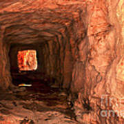 Sandstone Tunnel Poster