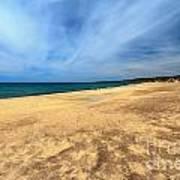 sandy beach in Piscinas Poster