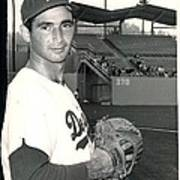 Sandy Koufax Photo Portrait Poster