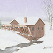 Sandy Spring Grist Mill Poster