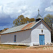 Sangre De Cristo Chapel In Cuartelez In New Mexico Poster