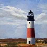 Sankaty Head Lighthouse Nantucket Massachusetts Poster