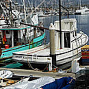 Santa Barbara Fishing Boats Poster