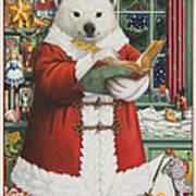 Santa Bear Poster