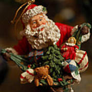 Santa Claus - Antique Ornament - 04 Poster