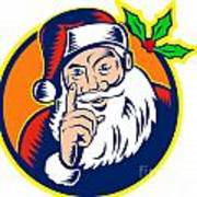 Santa Claus Father Christmas Retro Poster