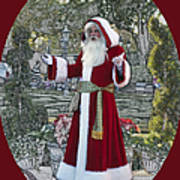 Santa Claus Walt Disney World Oval Poster