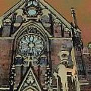 Santa Fe Cathedral Poster
