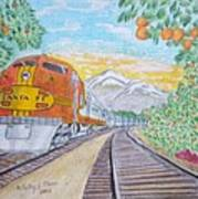 Santa Fe Super Chief Train Poster