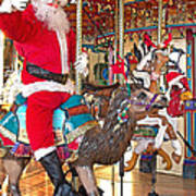 Santa Go Round Poster