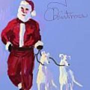 Santa Grey Poster