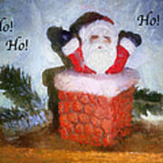 Santa Ho Ho Ho Photo Art Poster
