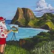 Santa In Kahakuloa Maui Poster