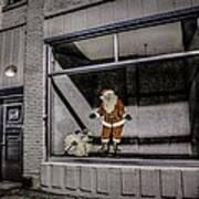 Santa In Window Poster