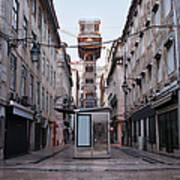 Santa Justa Lift In Lisbon Poster