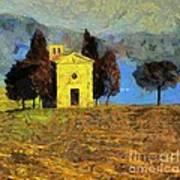 Santa Maria Di Vitaleta Poster
