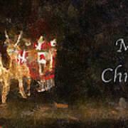 Santa Merry Christmas Photo Art Poster