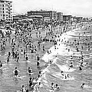 Santa Monica Beach In December Poster