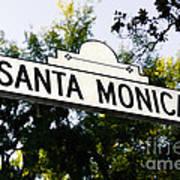 Santa Monica Blvd Street Sign In Beverly Hills Poster by Paul Velgos