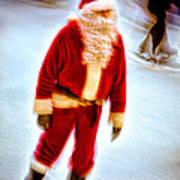 Santa On Ice Poster