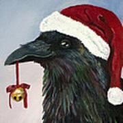Santa Raven Poster by Amy Reisland-Speer