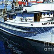 Santa Rosa Purse-seiner Fishing Boat Monterey Bay Circa 1950 Poster