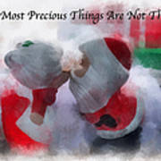 Santa The Most Precious Photo Art Poster