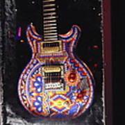 Santana Guitar Poster